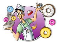 Лого Мини игры Веселые булки