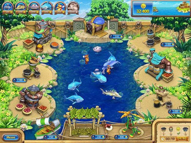 Веселая ферма. Рыбный день картинка из игры 6