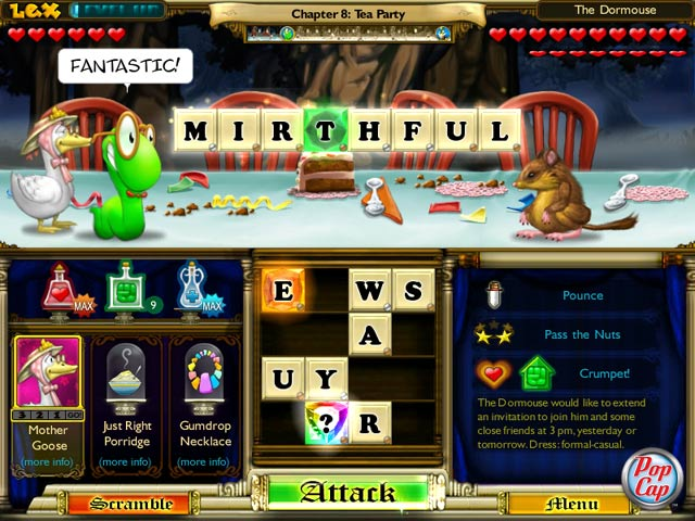 Bookworm Adventures: Fractured Fairytales Game screenshot 1