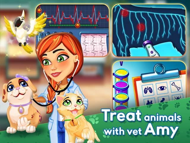 Dr. Cares: Amy's Pet Clinic Collector's Edition Game screenshot 1