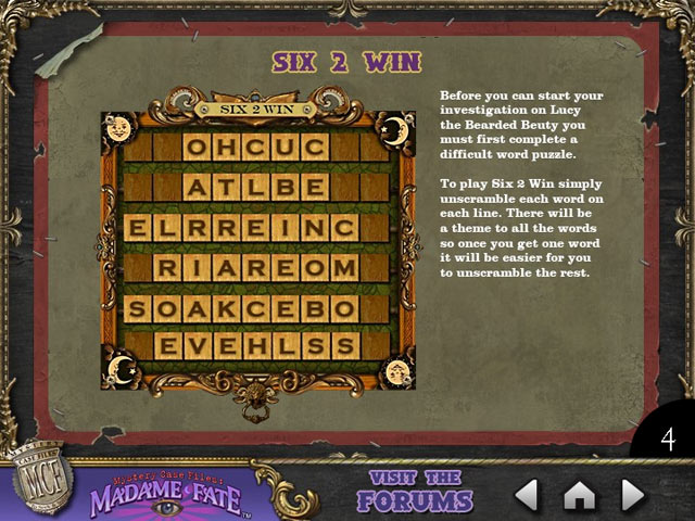 Mystery Case Files: Madame Fate Strategy Guide Game screenshot 2