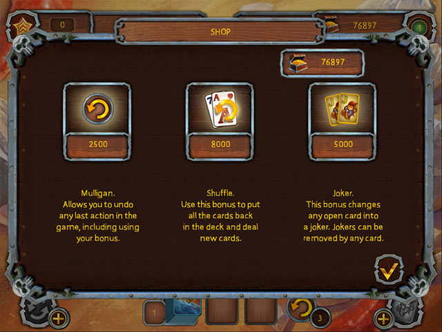 Pirate's Solitaire Game screenshot 1