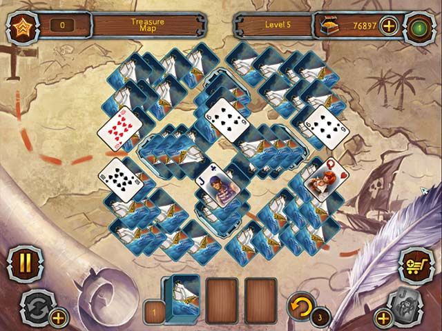 Pirate's Solitaire Game screenshot 2
