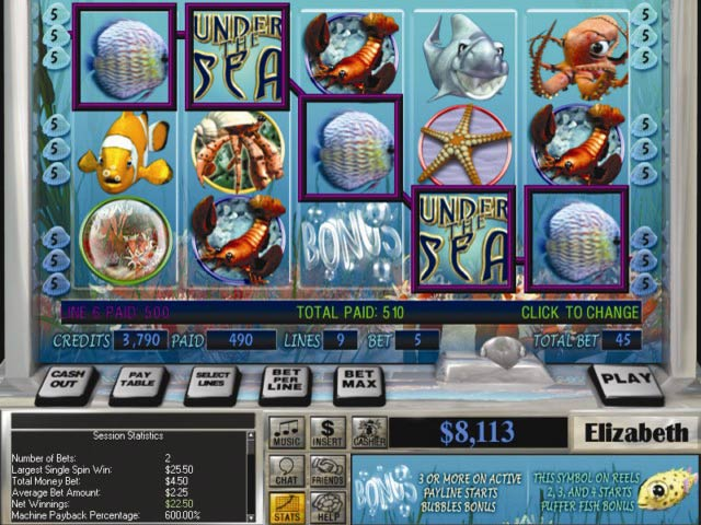 Slot Quest: Under the Sea Game screenshot 1