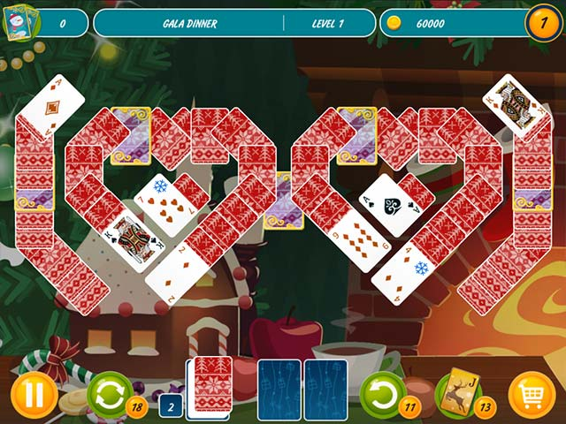 Solitaire Christmas Match 2 Cards Game screenshot 1