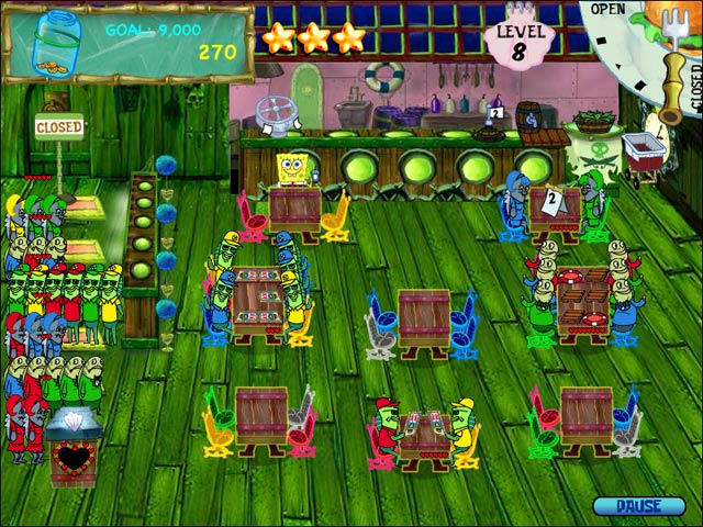 SpongeBob SquarePants Diner Dash Game screenshot 3
