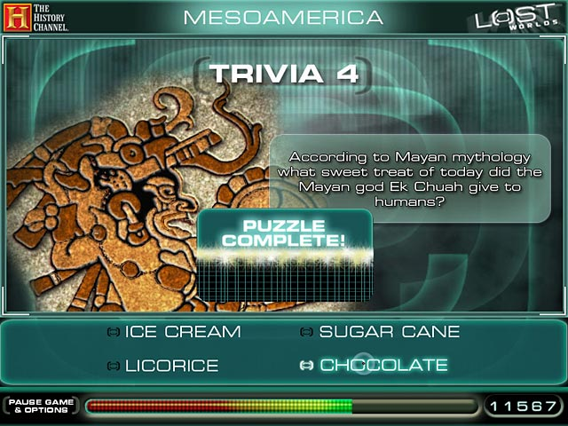 The History Channel Lost Worlds Game screenshot 3