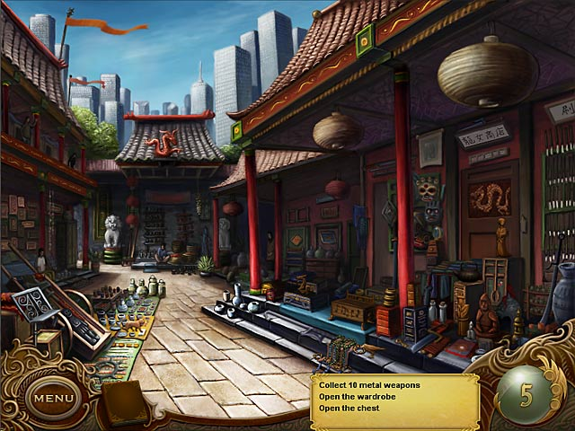 Tiger Eye: Part I: Curse of the Riddle Box Game screenshot 1